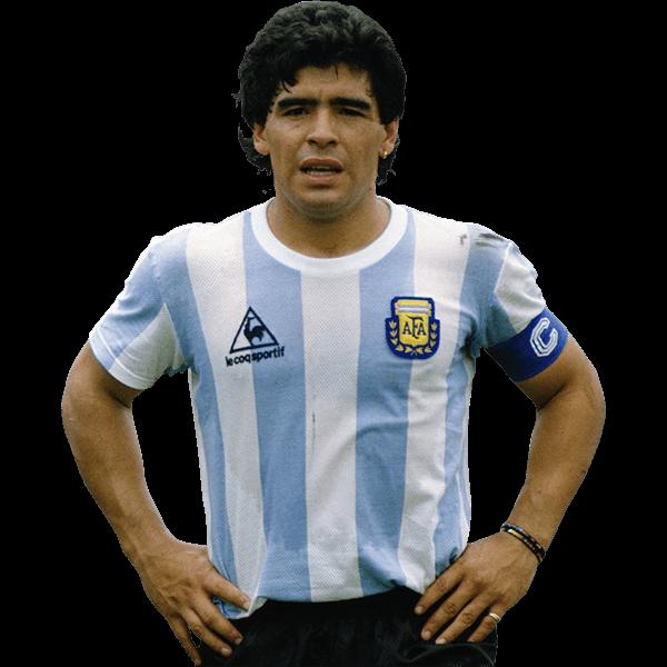 headshot of  Diego Maradona