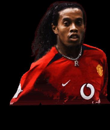 headshot of RONALDINHO Ronaldo de Assis Moreira